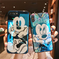 Cute Mickey Minnie Mouse Case Fr iPhone Xs Max X 8 Blu Ray Glossy Cartoon Cover
