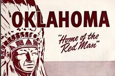 Oklahoma Home of the Red Man Brochure Oklahoma Planning & Resources Board c 1950
