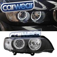 WHITE LED ANGEL EYES HEAD LIGHTS BMW E53 X5 00-03 6000K WHITE RINGS HEADLIGHTS