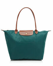 NEW LONGCHAMP Le Pliage Large Nylon Shoulder Tote CEDAR Green AUTHNTC $145