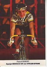 CYCLISME carte cycliste PASCAL ROBERT équipe RENAULT ELF 1985