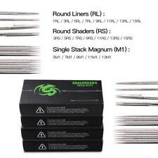 200 Sterile Tätowierung Nadeln Kit Steel Round Liner Shader Varied Size Supplies