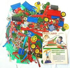 Meccano England METAL CONSTRUCTION BUILDING MATERIAL Wheels & Plates Huge Lot`50