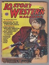 10 Story Western Mar 1946 Pulp Wayne D Overholser Gunnison Steele Kenneth Fowler
