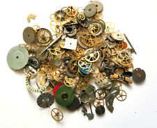 Vintage antique Steampunk Watch Parts - Larger watch gears, wheels lot 60 grams