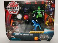 Bakugan Battle planet battle pack figures and card set