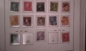 U.S.Stamp Scott #424-440...1c-50c  Washington Franklin 1913-1915 Scv $91 used