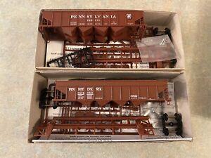 New! HO Bowser H-21 4 Bay Shadow & H-22A Early Hoppers Pennsylvania Railroad PRR