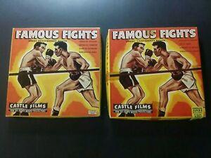 "1970s CASTLE FILMS 8MM FILMS ""FAMOUS FIGHTS"" (MARCIANO VS LOUIS)"