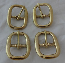 """Lot 4 Solid Brass Oval Cart Buckles 1"""" Horse Tack Halter Hardware Bridles New"""