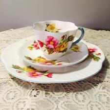 "GORGEOUS  ""SHELLEY"" DAINTY TRIO CUP SAUCER & CAKE PLATE ~BEGONIA~"
