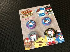 STREET FIGHTER X SANRIO PIN BUTTON 4 PACK