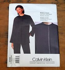 Vogue 2332 Calvin Klein Jacket Pants Sz 6 8 10 Hidden Assets Sewing Pattern