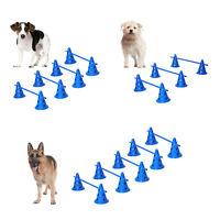 Dog Jump Hoop Poles Pet Agility Training Set Obedience Equipment Interactive Fun