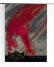Marvel Metal 1995 GOLD Blaster card 6 Human Torch