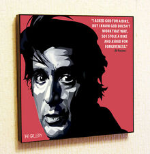 Al Pacino Painting Decor Print Wall Art Poster Pop Canvas Quotes Decals