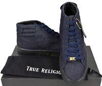 True Religion $185 Men's High Top Indigo Denim Sneaker Shoes - TRSHOE002 Size 8