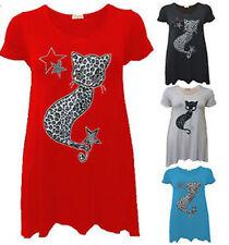 Waist Length Viscose Leopard Tops & Shirts for Women