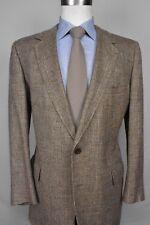 1980's Lebow Clothes Brown Silk Blend Two Button Sport Coat Men's Size: 41R