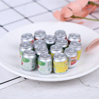 Dollhouse miniatura latas de bebida DIY casa de muñecas accesorios de cocina