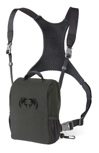 Kuiu Hunting Camo Bino Harness Binocular Chest Shoulder Gunmetal Black Grey XL