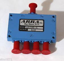 ARRA A6200-4,  4 WAY POWER DIVIDER 7,2 - 8,4 GHZ