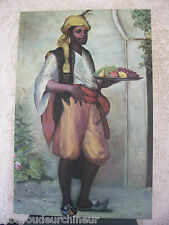 Peinture signé personnage orientaliste grand format