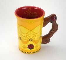 Disney Beauty Beast Belle Coffee Mug Ceramic Figural Gown Dress 3D Cup Yellow