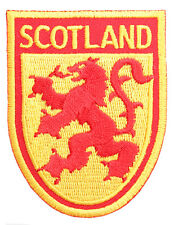 Scottish Lion Rampant Flag Shield Embroidered Sew-on Cloth Badge Patch Appliqué