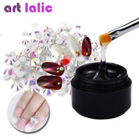 Nail Art Rhinestones Gel Glue Soak Off Clear UV Nail Art Gel UIM Tips Builder