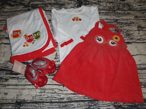 Gymboree Adorable Owl Blanket 6-12 Month Dress Bodysuit Shoes Outfit NWT