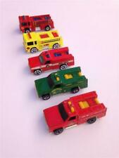Lot of 5 Vintage 1974-1976 Hot Wheels Fire Emergency Rescue Vehicles - Malaysia