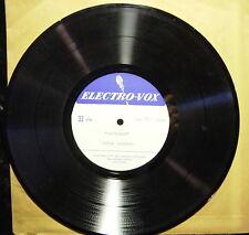 HAFTORAH: Chuck Stevens (33 RPM) Hollywood (Electro-Vox Recording Studios) +CD-R