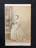 Victorian Carte De Visite CDV: Lady: Smith: Leeds: Big Hoop Gown Or Pregnant?