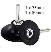 1 x 50mm & 1 x 75mm roloc disc holder backing pad roloc disc compatible