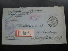 """DEUTSCHES REICH 1923 inflation """"Gebuhr bezahlt"""" Seepost registered cover! Nice!!"""