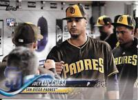 JOEY LUCCHESI 2018 Topps Update Short-Print SP Photo Variation #US271 PADRES RC