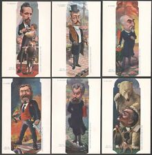 Moloch. Sirat - Nos Politiques. Série complète de 6 cartes avec pochette. Jaurès