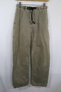 Vtg Gramicci Hiking Climbing Pants Built In Belt Zipper Fly Mens Sz M Khaki USA