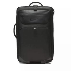 Nike Departure Roller Expandable Travel Luggage Bag BA5926-010 Black Carry On DS