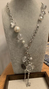 Plunder Design Fashion Jewelry Jennifer Sliver Pearl Bead Charm Lanyard Necklace