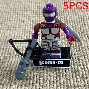 5x KREO Gi Joe Cobra Kre-O Night Creeper Viper Action Figure Kreon Minifigure