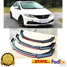 Glossy Black Front Bumper Lip Splitter For 2013-2015 9th Honda Civic Sedan SI US