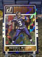 2016 Donruss Dominator #7 Russell Wilson Foil Refractor Insert SP /999 HOT!!!