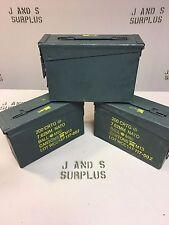 LOT of 3 USGI Military .30 cal 7.62 M19A1 Ammo Can stash / Storage Grade B GOOD