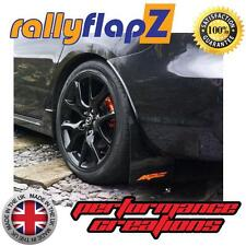 Rally Style Mudflaps MAZDA 3 MPS (07-09) Mk1 Mud Flaps Black Logo Orange 4mm PVC