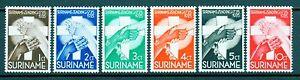 1935 Surinam SC B16-B21, MH Complete Set of 6, Creed Moravians Semi-Postals
