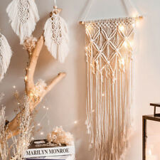 Nordic Tassel Boho Macrame Tapestry Dreamcatcher Wall Hanging Woven Home Decor