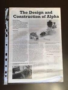 ALPHA 0.5cc TWO STROKE I C ENGINE MODEL CONSTRUCTION SERIES