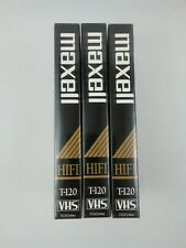3 Maxell T-120 246m Professional Grade HI-FI VHS~6 HRS In Ext. Play Mode